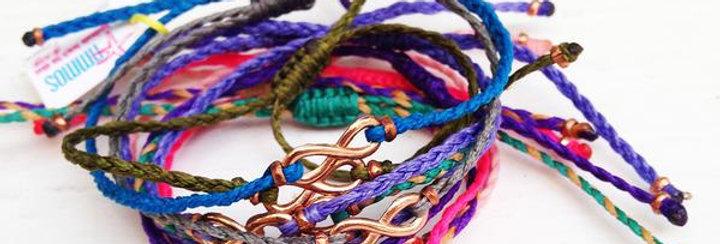 An infinity bracelet/anklet