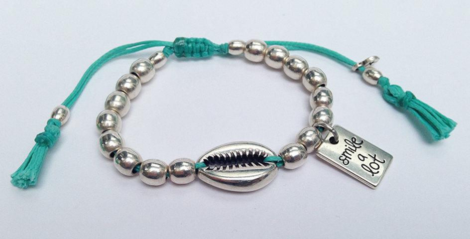 Sea Shell multi bead bracelet