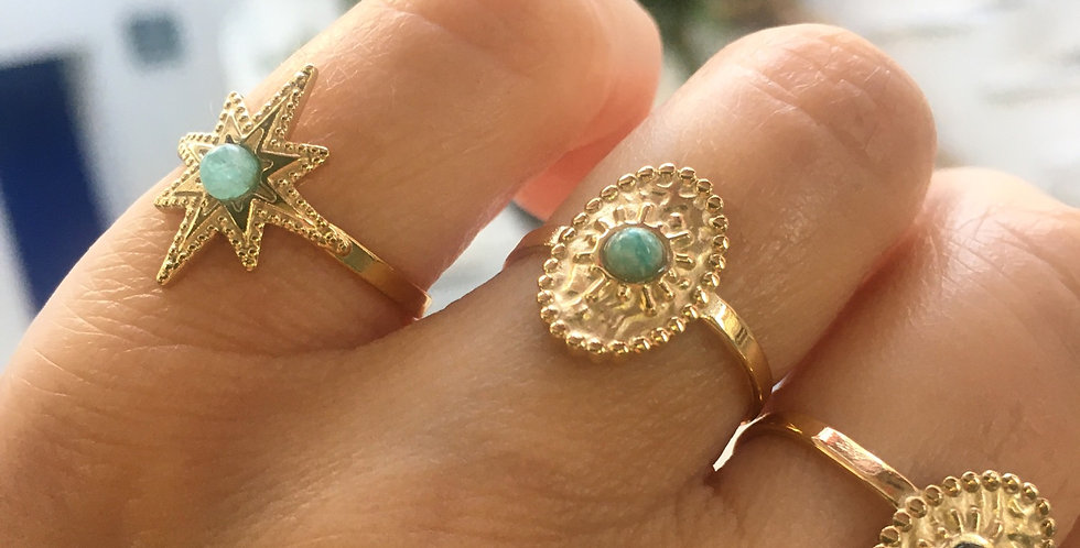 Goldplated hammered ring
