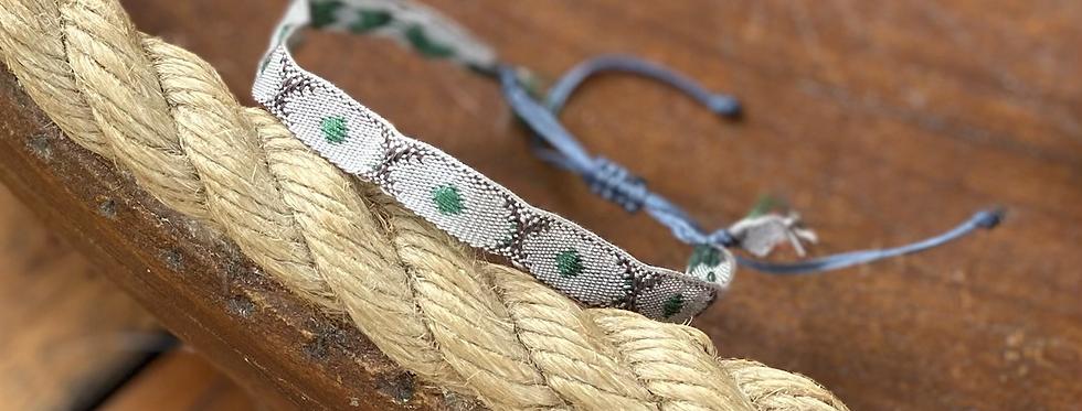 Woven ribbon bracelet