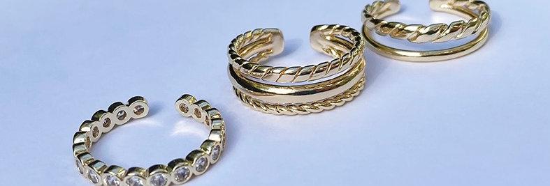 Goldplated rings