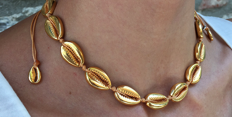 Metal Shell Necklace (2cm shells)