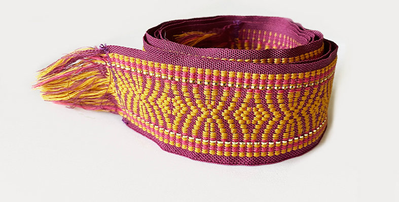 Woven Belt -Purple gold