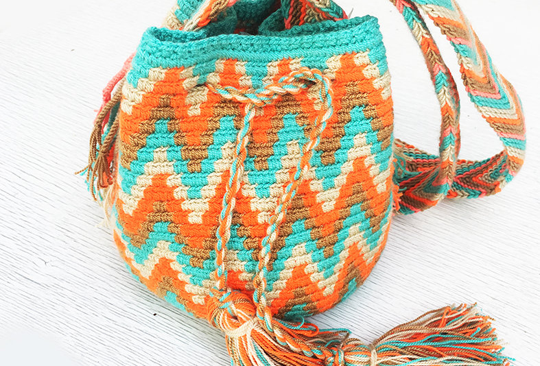Small Mochila Wayuu -Happy Orange