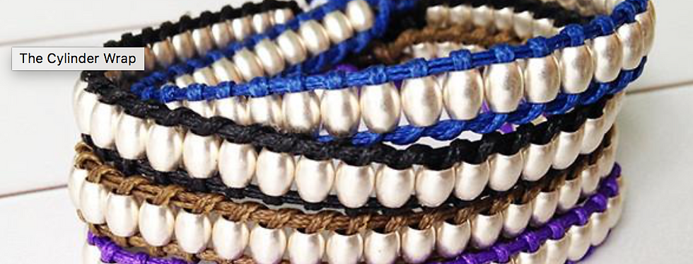 Single wrap cylinder bead bracelet