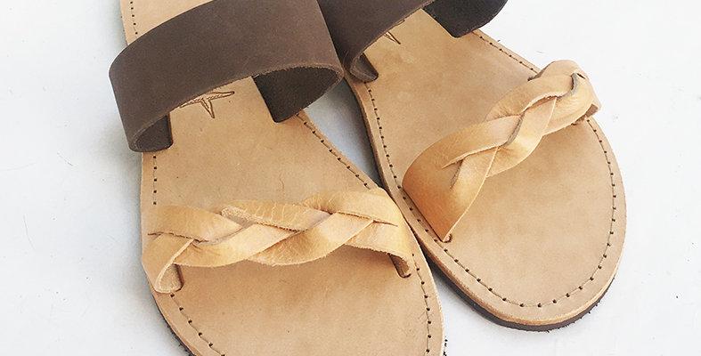 The Tan Braid sandal