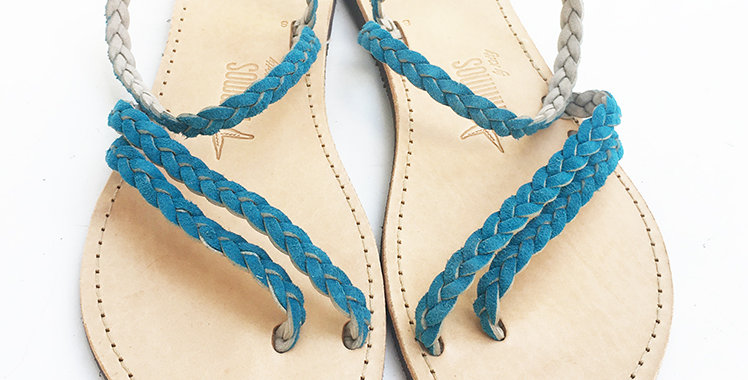 The Petrol Delphine sandal