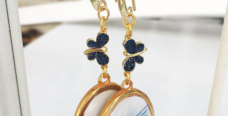 Butterfly and Bird Earrings