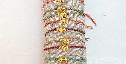 A small elephant bracelet/anklet