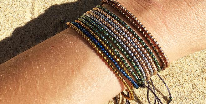 Hematite chic and slim bracelet