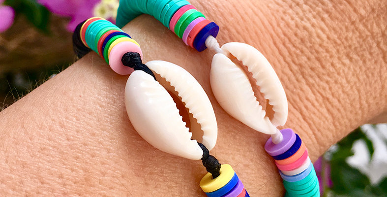 Colorful beach bum bracelet