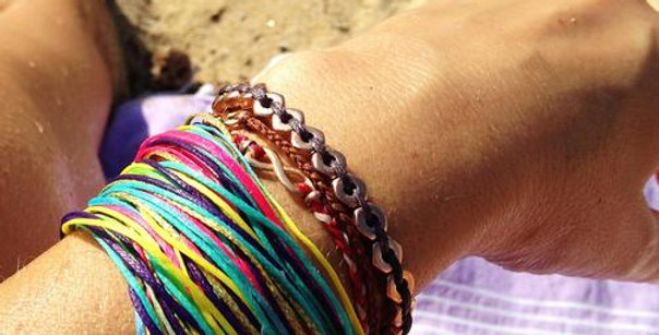 Multi cord Swim and Surf bracelet