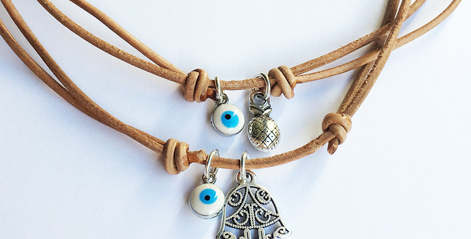 Leather and Charms Necklace