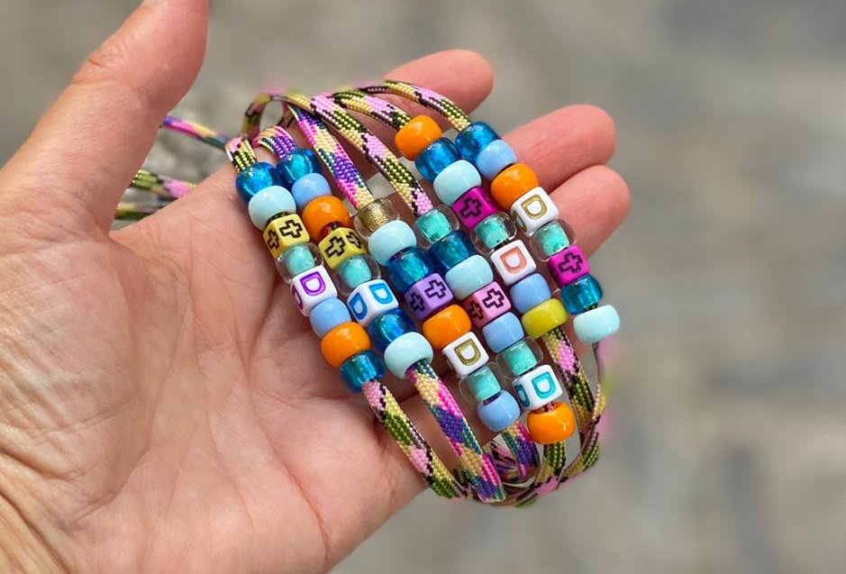 Candy Beads Paracord bracelet