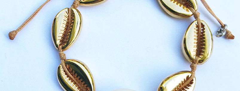 Metal shell Bracelet (2cm shells)