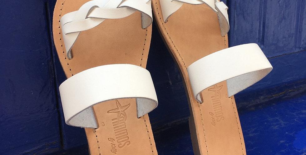 The White Braid sandal