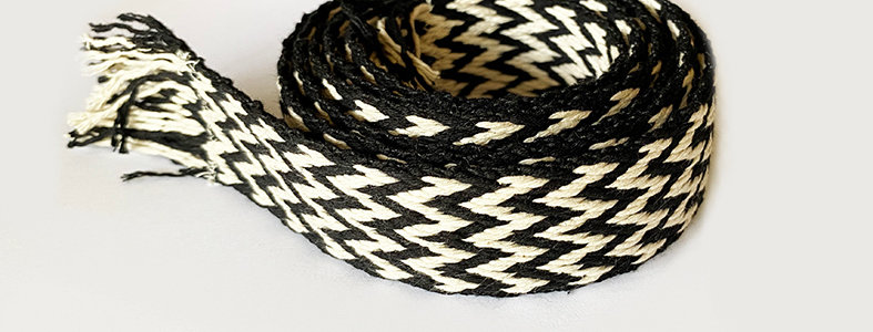 Woven Belt -Black and white