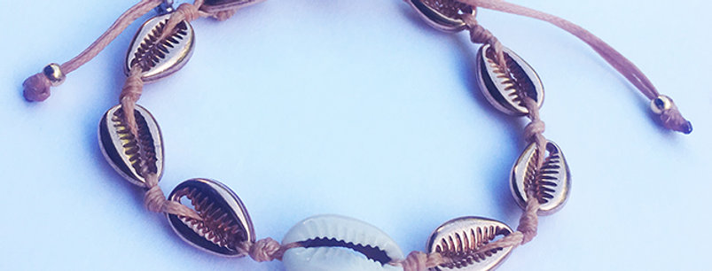 Metal shell Bracelet (1cm shells)