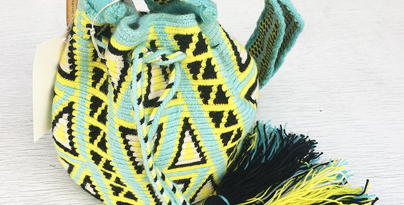 Small Mochila Wayuu - Bright Aqua