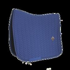 Tapis de Selle Dressage Fishbone Bleu - Kentucky Horsewear