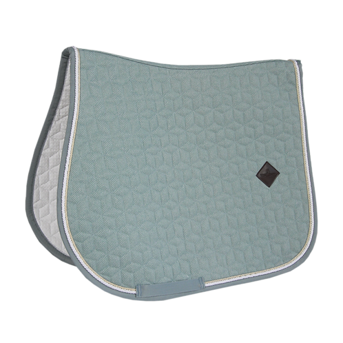 TAPIS DE SELLE CHEVAL KENTUCKY LAINE BLEU CLAIR