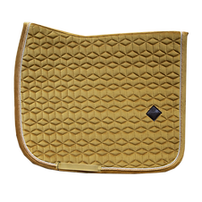 TAPIS DE SELLE DRESSAGE VELVET MOUTARDE - KENTUCKY HORSEWEAR