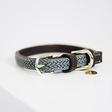 Collier pour Chien en Nylon Tressé Gris - Kentucky Dogwear