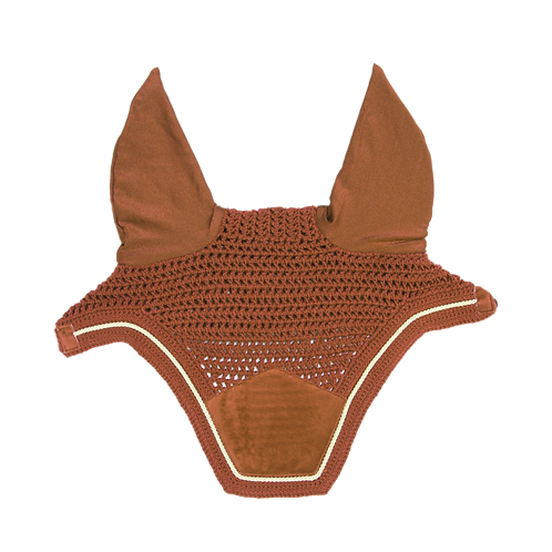 BONNET WELLINGTON VELVET ORANGE - KENTUCKY HORSEWEAR
