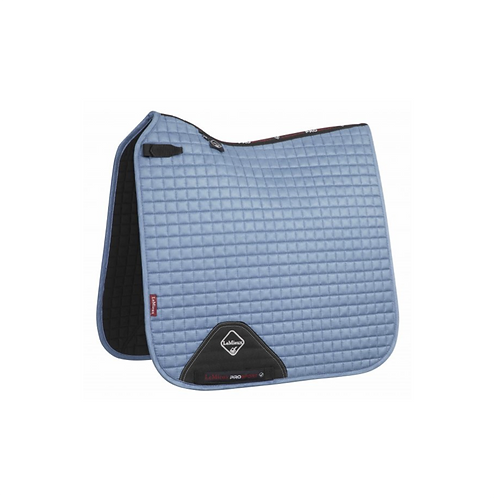 TAPIS DE SELLE SUEDE DRESSAGE SQUARE ICE BLUE - LEMIEUX