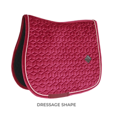 TAPIS DE SELLE DRESSAGE VELVET FUSCHIA - KENTUCKY HORSEWEAR