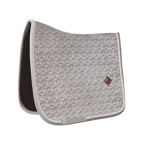 KENTUCKY - TAPIS DE SELLE CHEVAL DRESSAGE VELVET BEIGE