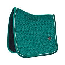 Tapis de Selle Dressage Velvet Vert Sapin - Kentucky Horsewear
