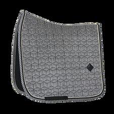 Tapis de Selle Dressage Pied-de-poule Noir - Kentucky Horsewear