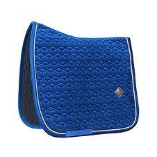 Tapis de Selle Dressage Velvet Bleu Marine - Kentucky Horsewear