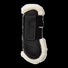 Guêtres en Cuir Moumoute Noir - Kentucky Horsewear