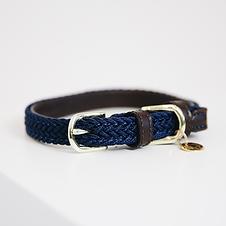 Collier pour Chien en Nylon Tressé Bleu - Kentucky Dogwear