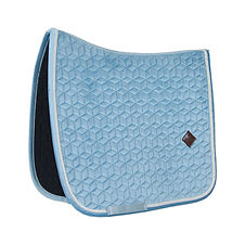 TAPIS DE SELLE DRESSAGE VELVET BLEU CLAIR - KENTUCKY HORSEWEAR