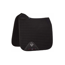 TAPIS PROSPORT COTTON DRESSAGE SQUARE BLACK - LEMIEUX