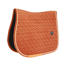 TAPIS DE SELLE VELVET ORANGE - KENTUCKY HORSEWEAR