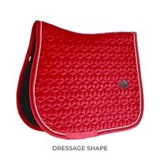 TAPIS DE SELLE DRESSAGE VELVET ROUGE - KENTUCKY HORSEWEAR