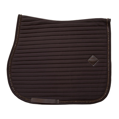 KENTUCKY TAPIS DE SELLE CHEVAL PEARLS MARRON