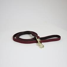Laisse pour Chien en Nylon Tressé Bordeaux - Kentucky Dogwear