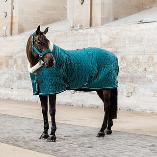 Couverture de Presentation Velvet 160g Emeraude - Kentucky Horsewear