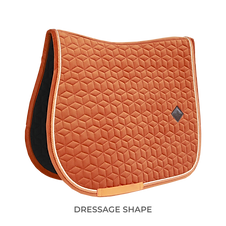 TAPIS DE SELLE DRESSAGE VELVET ORANGE - KENTUCKY HORSEWEAR