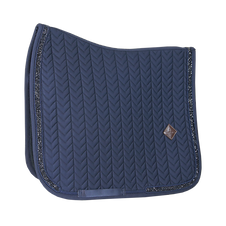 Tapis de Selle Dressage Glitter Stone Bleu - Kentucky Horsewear