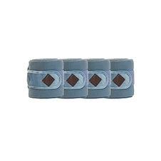 Bandes de Polo Velvet Bleu Clair - Kentucky Horsewear