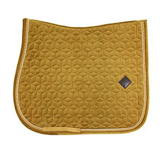 TAPIS DE SELLE VELVET MOUTARDE - KENTUCKY HORSEWEAR