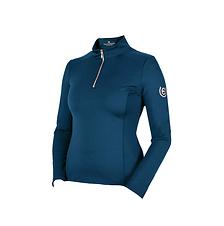 T-Shirt Base Layer Manches Longues Monaco Blue - Equestrian Stockholm
