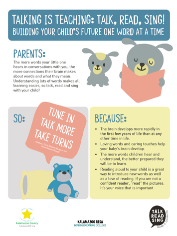 Parent Tune-In, Take Turns, Talk More Activity