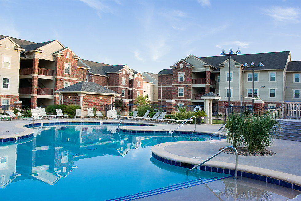 Apartment complex with beautiful swiming